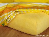 Froté prostěradlo tmavě žluté exclusive Dadka