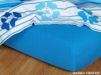 Kvalitní prostěradlo jersey v modré barvě odstín denim Dadka