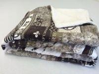 Beránek deka z mikrovlákna PATCHWORK hnědý