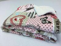 Beránek deka z mikrovlákna PATCHWORK růžový
