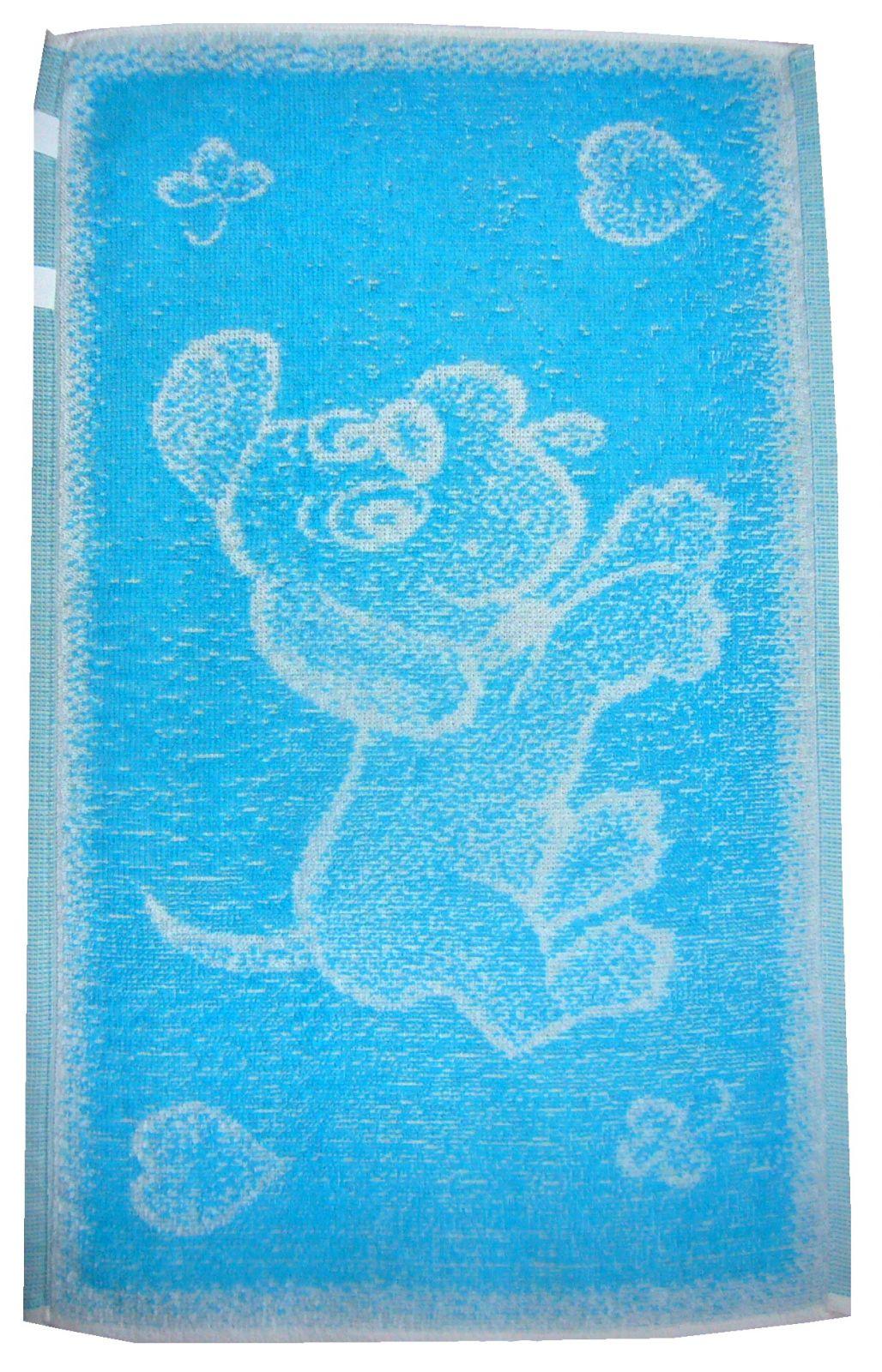 Dětský ručník Pejsek tyrkysové barvy Frotex