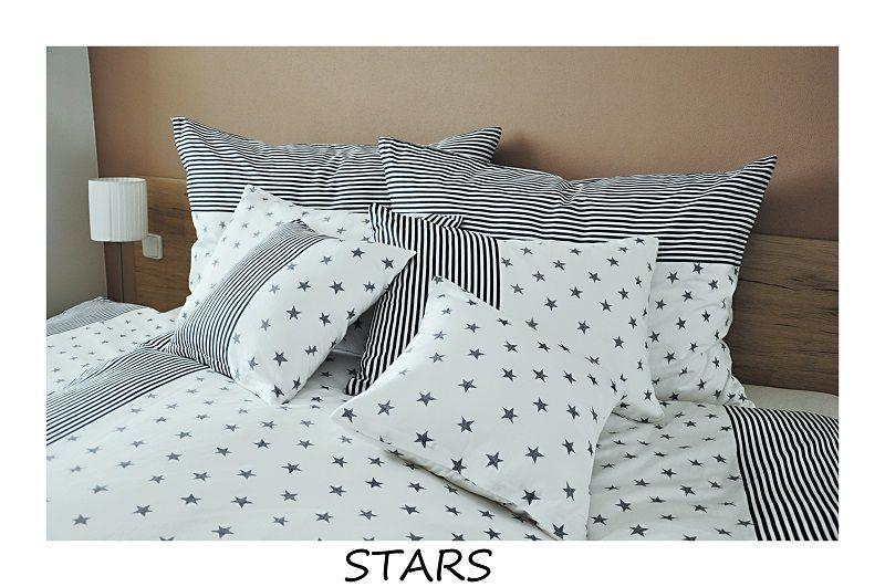 Kvalitní bavlněné povlečení Stars v kombinaci hvězd, hvězdy a proužků Fitex