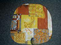 Povlak na kuchyňský sedák hnědožlutý s ornamenty 40x40 cm