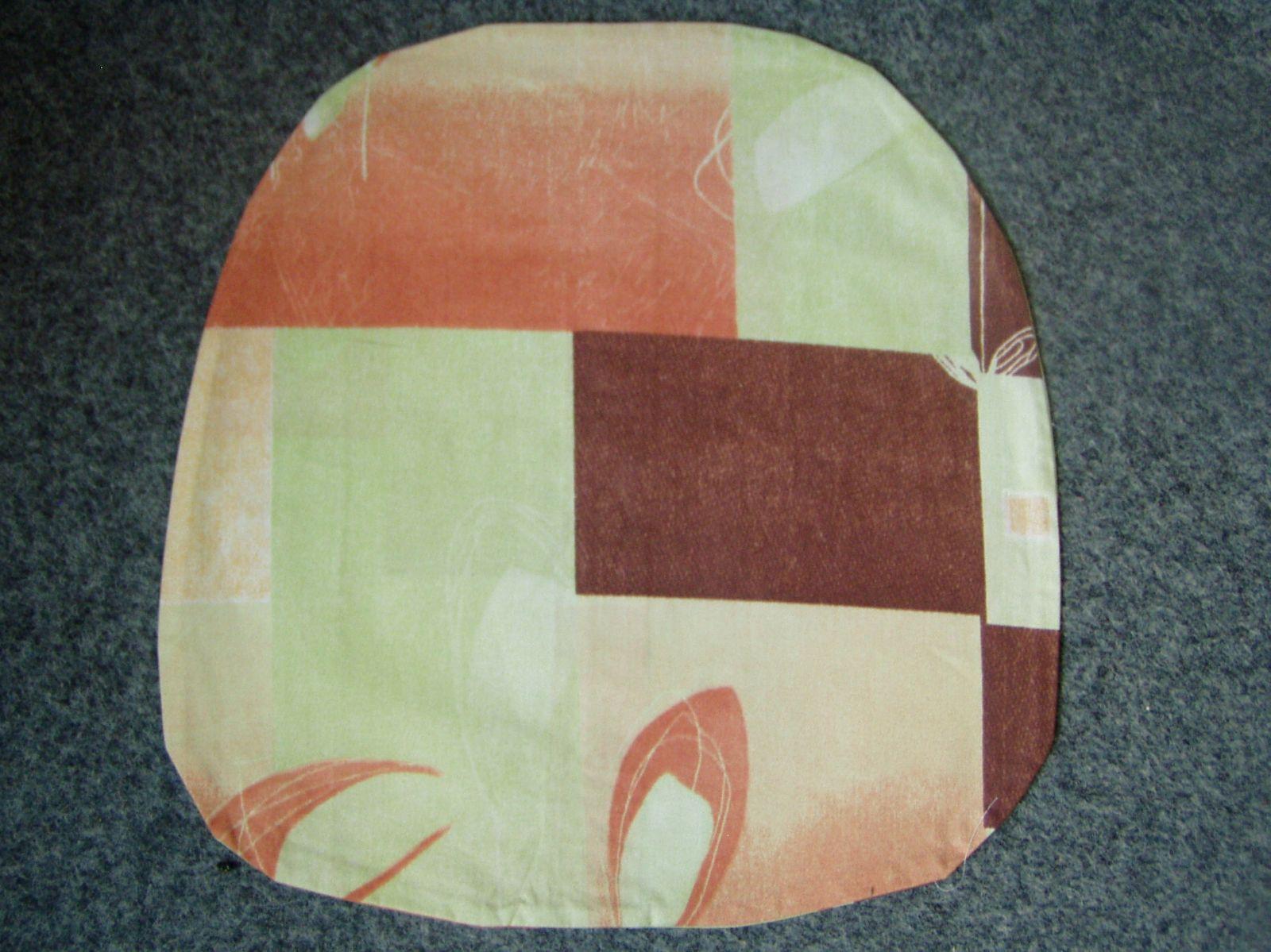 Povlak na kuchyňský sedák zelenocihlový 40x40 cm Dadka