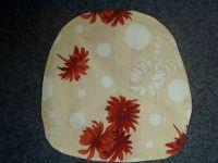 Povlak na sedák nebo kuchyňský sedák béžový s květy  40x40