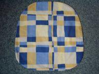 Povlak na sedák nebo kuchyňský sedák  Káro modré 40x40