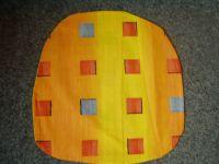 Povlak na sedák nebo kuchyňský sedák oranžový s kostičkama  40x40