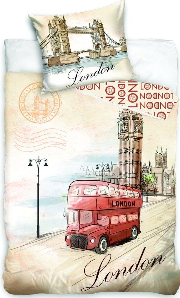 Bavlněné povlečení London bus, Londýn Jerry Fabrics