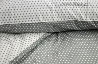Oboustranné bavlněné povlečení s hvězdičkami v barvě bílošedivé Fitex