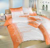 Povlečení bavlna Smyčky oranžové