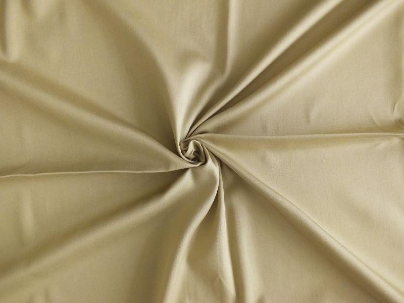 Saténové povlečení jednobarevné béžové barvy Dadka