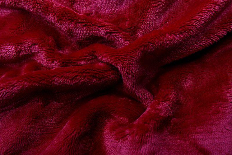 Prostěradlo z mikroflanelu bordó barvy Svitap