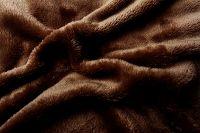 Mikroflanelové prostěradlo hnědé Svitap