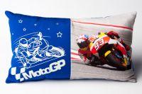 Svítící polštářek MotoGP modrý 25x41 cm