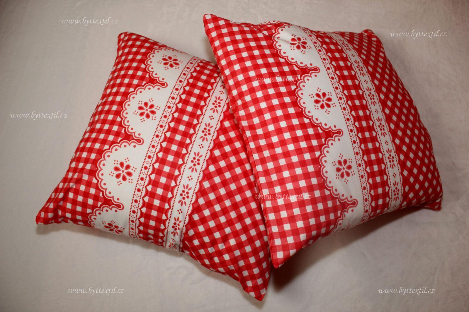 Bavlněný povlak Kanafas kostička červená český výrobce