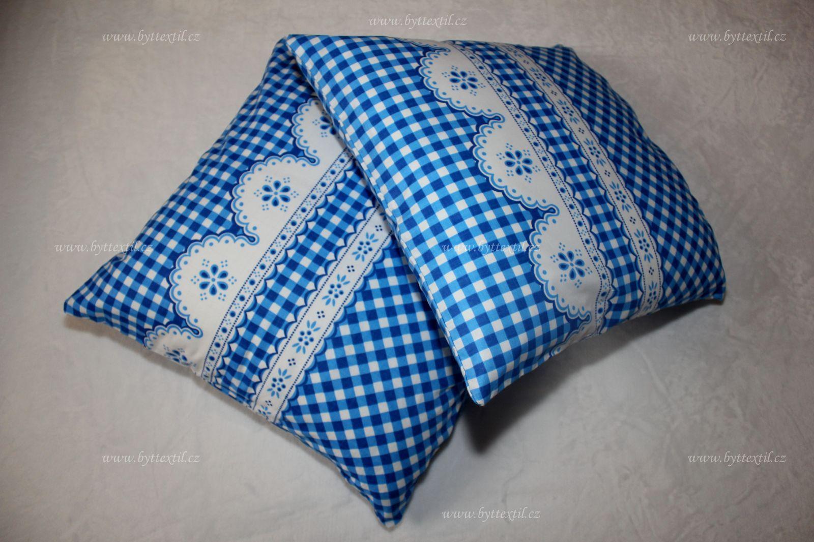 Bavlněný povlak Kanafas kostička modrá český výrobce