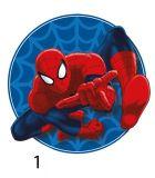 Tvarovaný plněný polštářek Spiderman