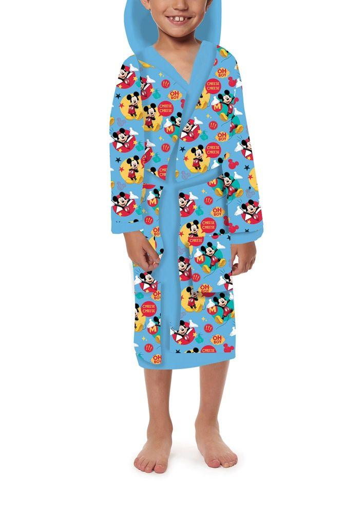 Dětský župan Mickey na modrém podkladu Jerry Fabrics