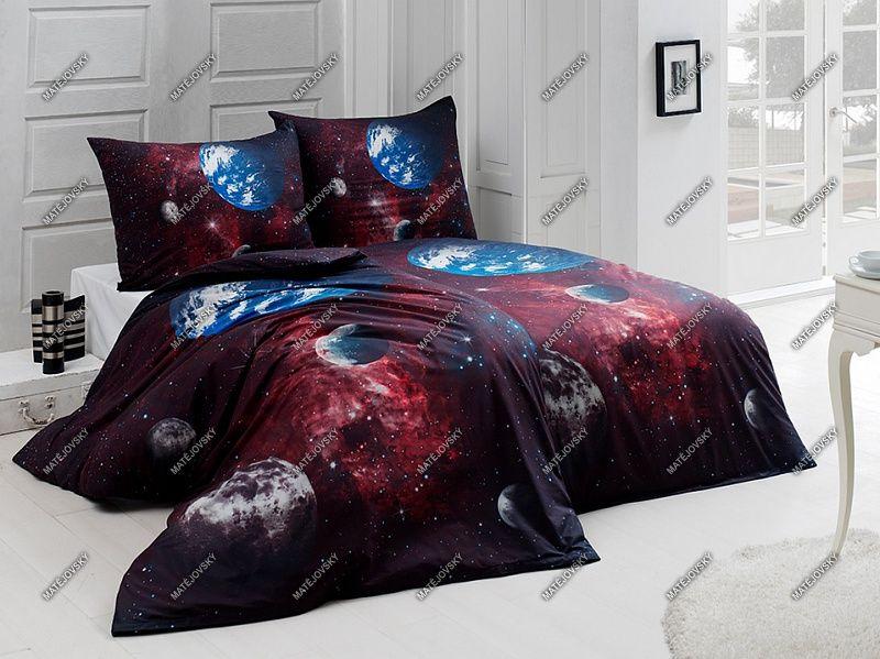 Bavlněné povlečení Vesmír s motivem vesmíru v tmavých barvách Matějovský