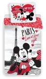 "Povlečení Mickey and Minnie in Paris "" I love you"""