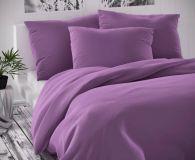 Saténové povlečení fialové