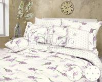 Bavlněné povlečení Lavender white