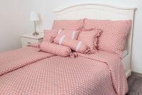 Kvalitní prošívaný povlak Puntík růžový český výrobce