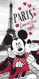 Osuška Mickey and Minnie in Paris 70x140 cm