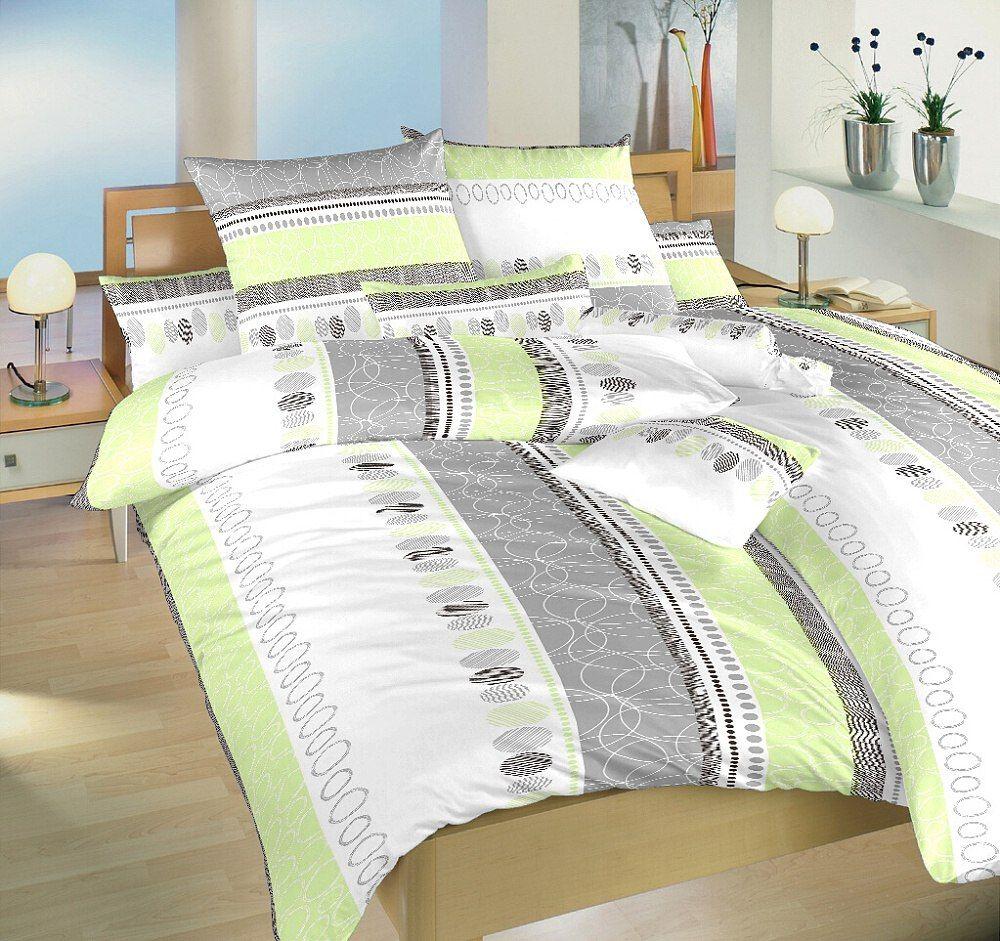 Povlečení bavlna Ateliér zelený 140x200, 70x90 Dadka