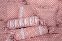 Povlečení selského růžové barvy s motivem puntíků český výrobce