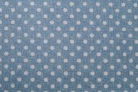 Povlečení selského stylu modré barvy s motivem puntíků český výrobce
