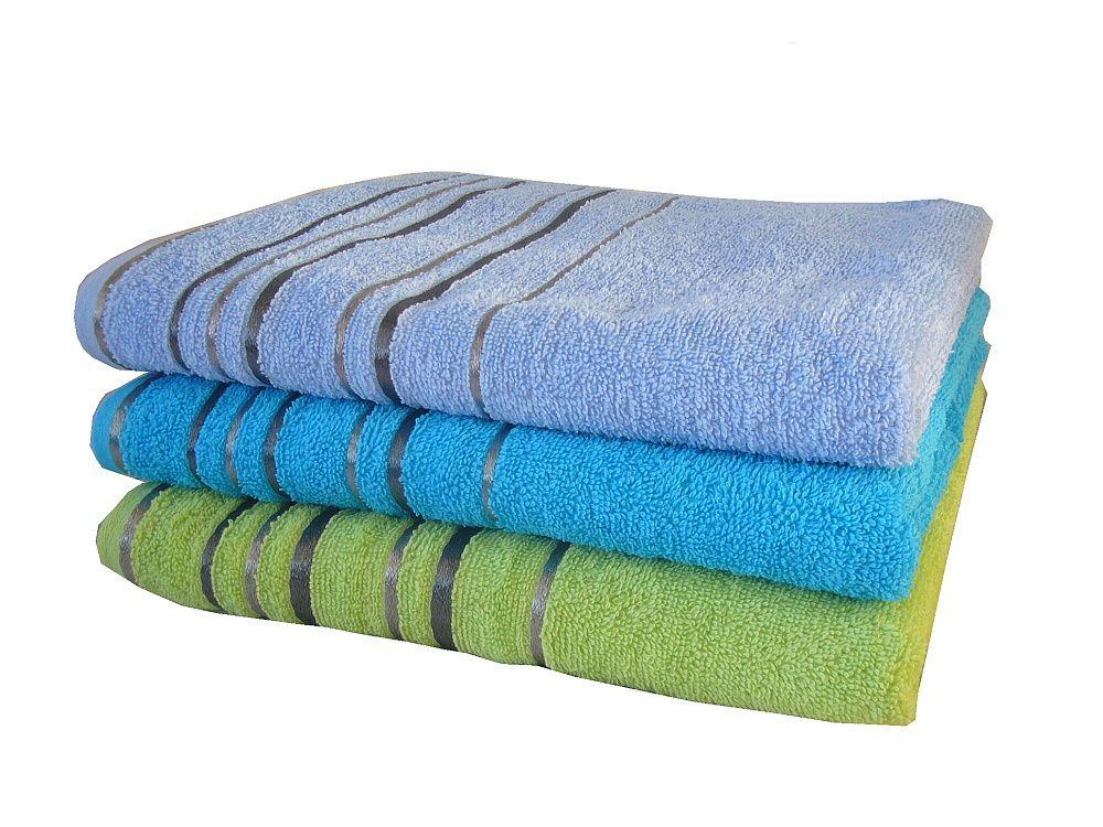 Zara ručník a osuška modré kolekce Praktik