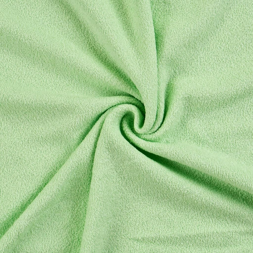 Kvalitní napínací froté prostěradlo ve světle zelené barvě Kvalitex