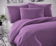 Saténové povlečení fialové luxusní Kvalitex