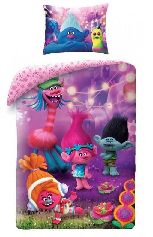 Dětské bavlněné povlečení Trollové Jerry Fabrics