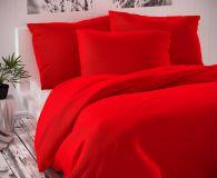 Saténové povlečení červené luxusní Kvalitex