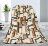 Vlněná deka 155x200cm geometrie - evropské merino