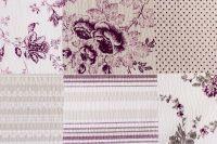 Bavlněné povlečení Patchwork šedý s kombinací fialové barvy český výrobce