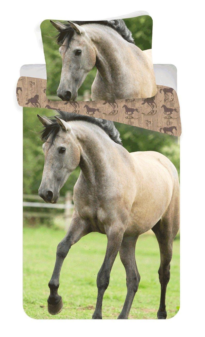 Krásné bavlněné povlečení pro děti s béžovým koněm, hřebcem Jerry Fabrics