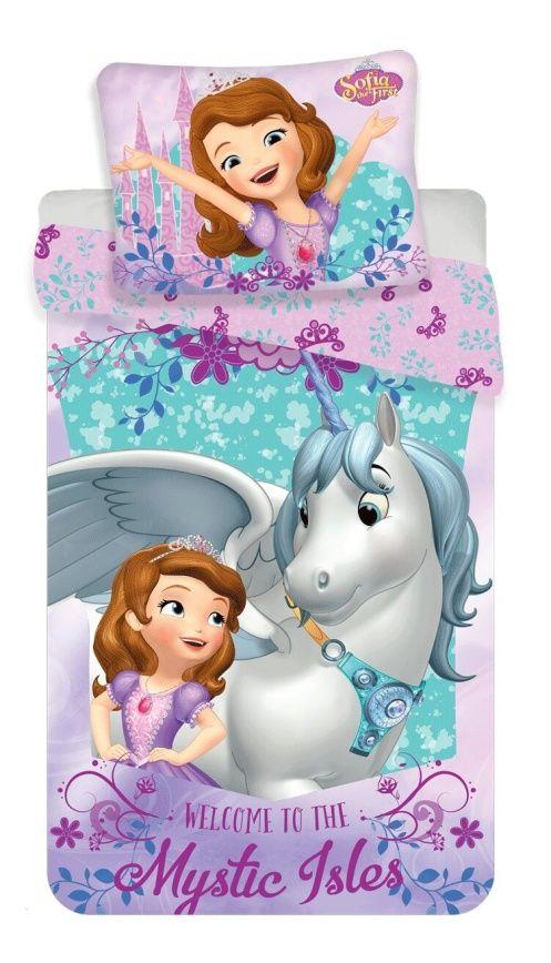 Bavlněné povlečení unicorm, jednorožec a Sofia Jerry Fabrics