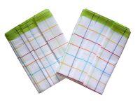 Utěrka Bavlna z egyptské bavlny 50x70 barevný proužek - zelená 3 ks