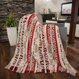 Deka bavlněná 150x200cm Azték červený