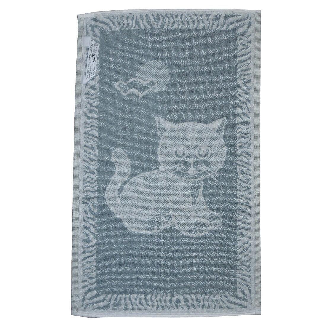 Dětský ručník kotě, kotátko, kočka šedé barvy Frotex