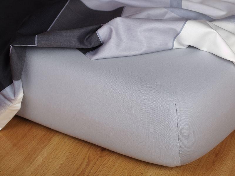 Jersey prostěradlo šedá 90x200x15 cm Dadka