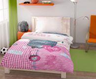Bavlněné povlečení pro mladé dívky růžové barvy Kvalitex