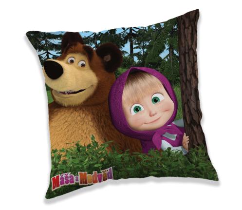 Povlak na polštář Máš a Medvěd v lese Jerry Fabrics