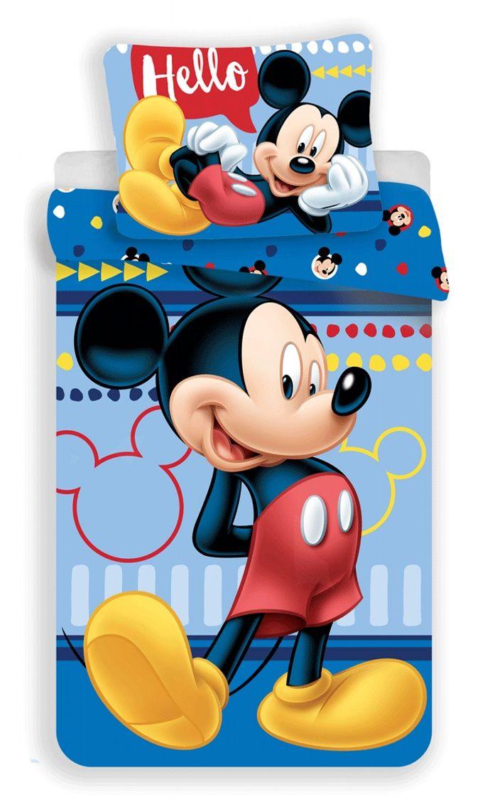Modré povlečení pro děti s motivem Mickey Mouse Jerry Fabrics