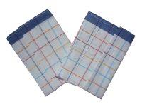Utěrka Bavlna z egyptské bavlny barevný proužek modrá - 3 ks