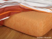 Napínací froté prostěradlo karamelové luxusní Dadka