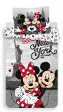 Bavlněné povlečení Mickey a Minnie v New Yorku Jerry Fabrics